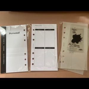 Cloth and Paper inserts